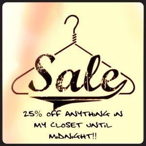 Other - 🖤💜 FLASH SALE🖤💜 25% off until midnight!!
